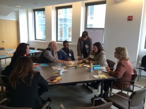 Participants discuss public policy initiatives at the Greater Boston focus group in early 2014.